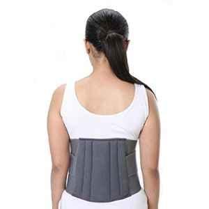 Witzion XXL Lumbo Sacral Grey Back Support Belt, WI-16-Grey-XXL