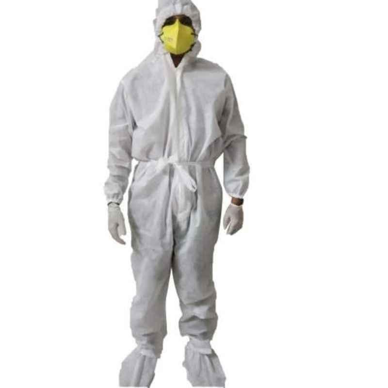 Bluekites 60 GSM 2 Pcs White PPE Body Covers