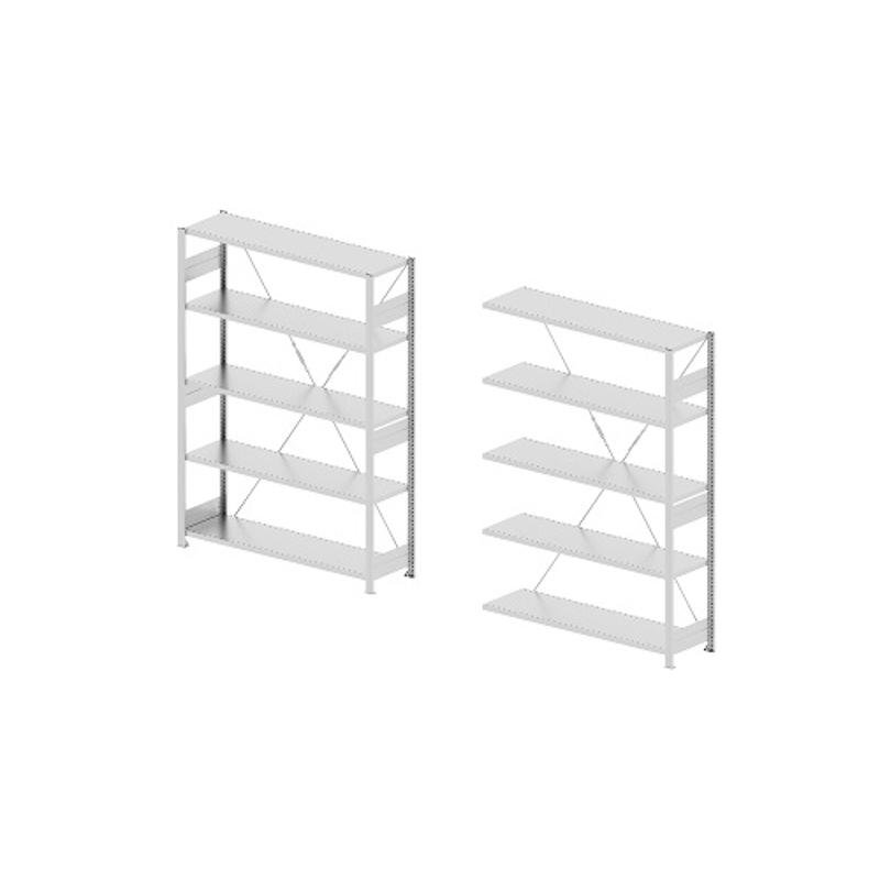 Godrej Altius Lite 1000x600x1900mm Steel Light Grey Storage Rack with 5 Layers (Pack of 2)
