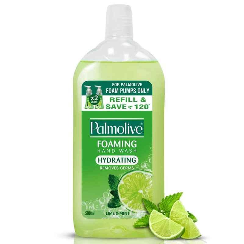 Palmolive 500ml Lime & Mint Hydrating Foaming Liquid Wash (Pack of 4)
