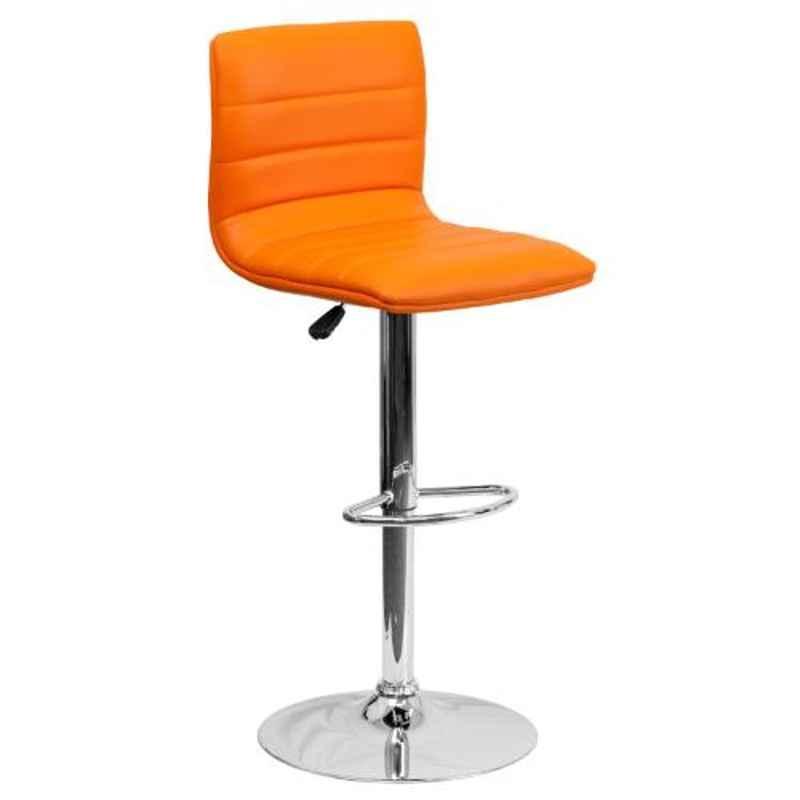 Steelcraft KBSTO12 Orange Leatherette Upholstery Seat Bar Stool