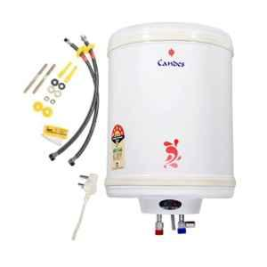 Candes Perfecto Metal 15L 2kW Ivory Storage Water Heater with Installation Kit