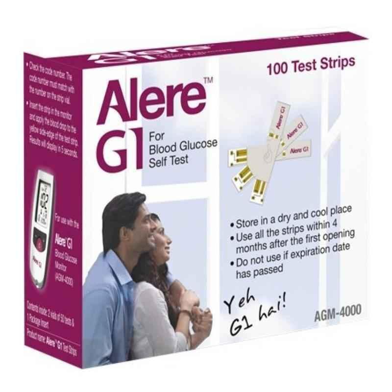 Alere 100 Pcs AGM-4000 G1 Blood Glucose Testing Strip Set
