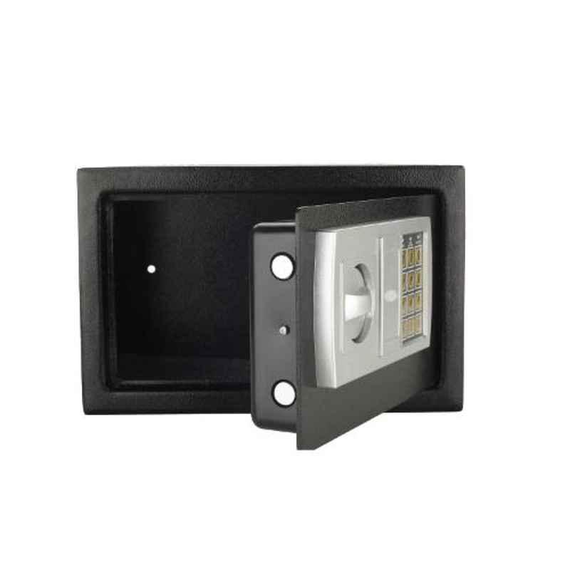 Swaggers Black 8x12x8 inch Mild Steel Electronic Safe Locker Box
