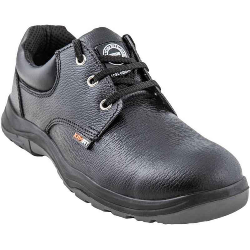 Acme AP-56 Adjacent Steel Toe Low Ankle Black Safety Shoes, Size: 9