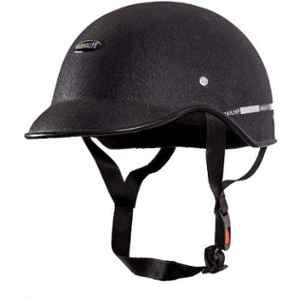 Habsolite HB-MWB1 Mini Wrinkle Black Safety Helmet With Quick Release Strap, Size: Free Size