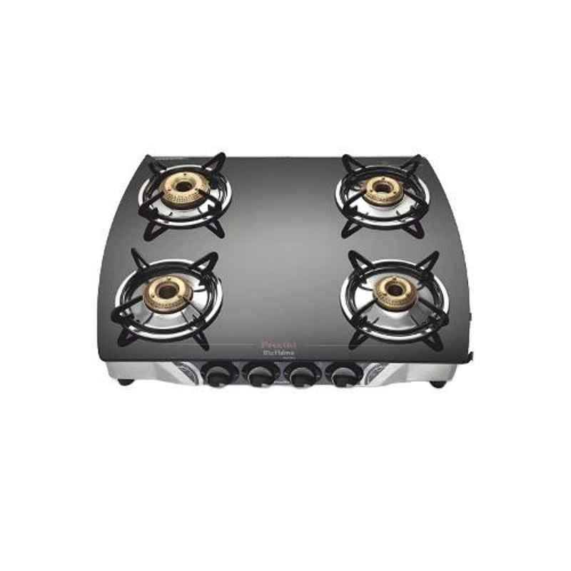 Preethi Blu Flame Black with 4 Burners Gas Stove, GTS106