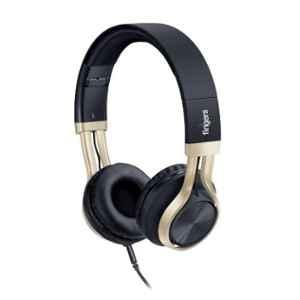 Fingers Showstopper H5 Black & Soft Gold Wired Headphone with Built-In Mic