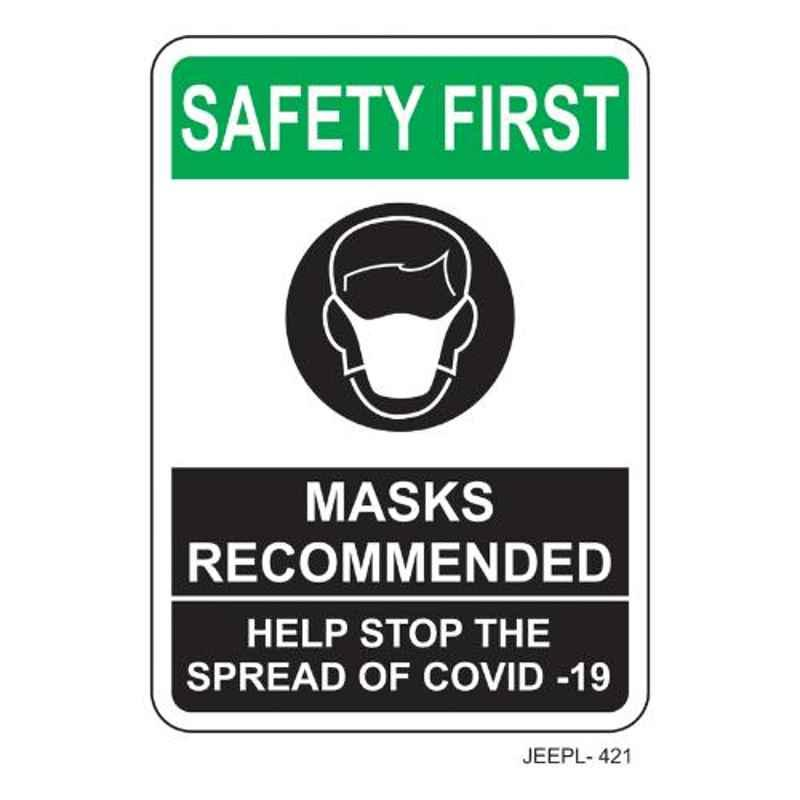 Jeepl Safety First Mask Recommended Sticker, jeepl-421