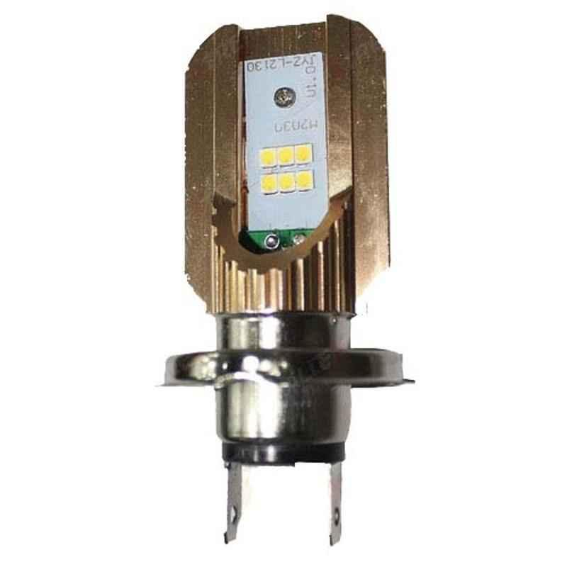 AllExtreme EX6H4L1 20W 6 LED H4 Headlight Bulb