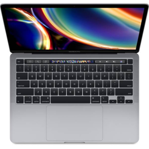 Apple 13-inch MacBook Pro with Touch Bar: 2.0GHz quad-core 10th-generation Intel Core i5 processor, 512GB, 16GB-Space Grey, MWP42HN/A