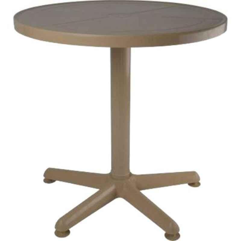Supreme Penta Marble Beige Plastic & Polypropylene Round Outdoor Table