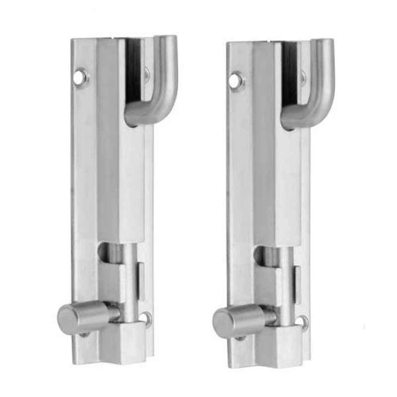 Nixnine 4 inch Stainless Steel Heavy Duty L-Shape Tower Bolt Door Latch Lock, SS_LTH_A-518_L_4IN_2PS (Pack of 2)