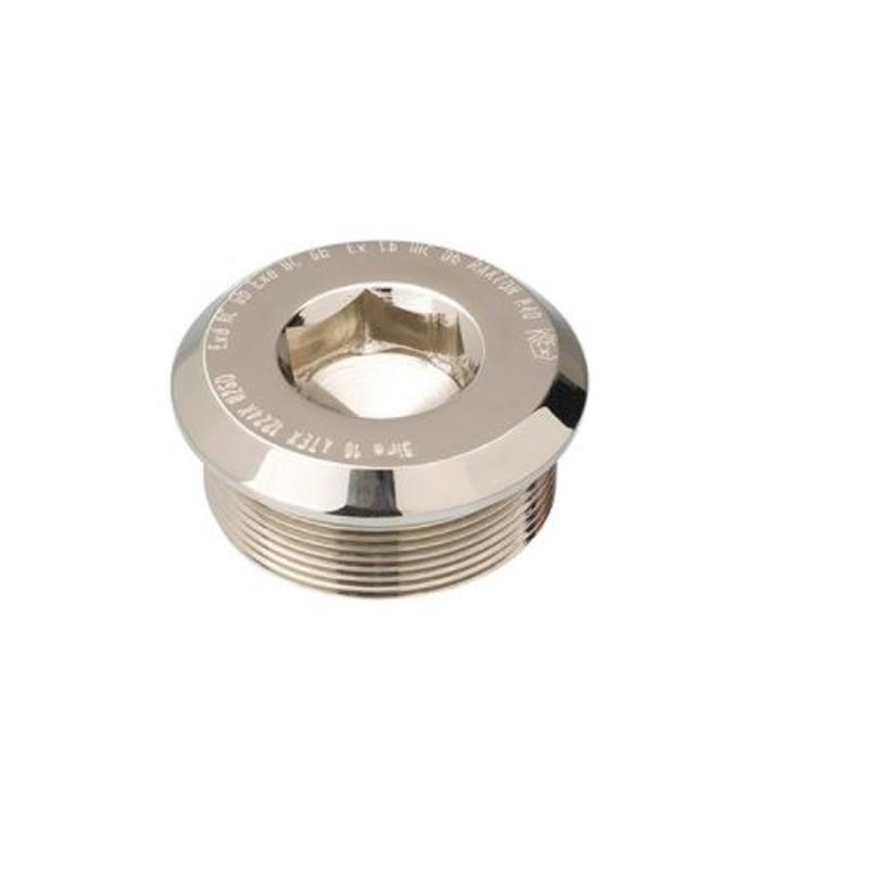 Raxton M40 ATEX Exde Male Thread Aluminium Dome Head Stopping Plug, CQB1500A