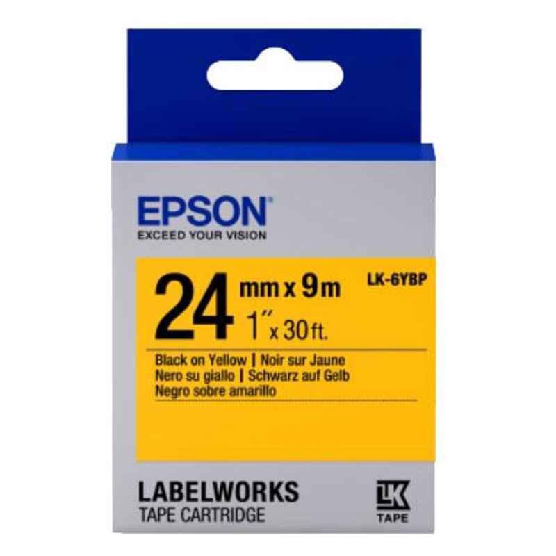 Epson LK-6YBP Black & Yellow Label Tape