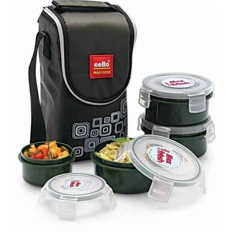 Cello Max Fresh 500ml 4 Containers Lunch Box (Pack of 6)