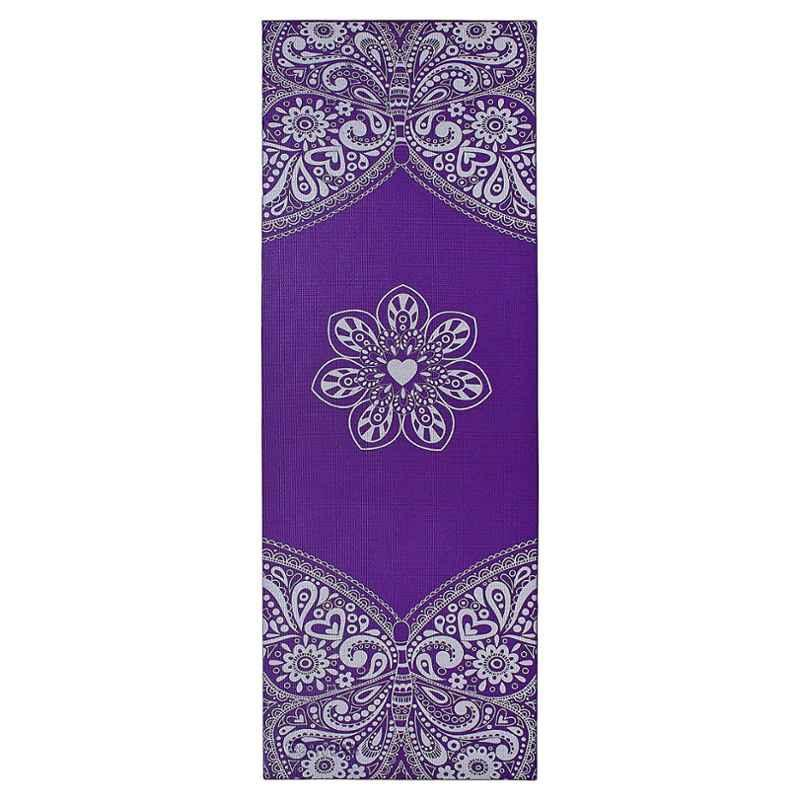 Strauss 1730x610x5mm Purple PVC Meditation Butterfly Yoga Mat with Cover, ST-1411