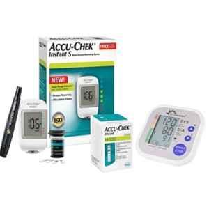 Dr. Morepen BP-02 Blood Pressure Monitor & Accu-Chek Instant S Meter Glucometer
