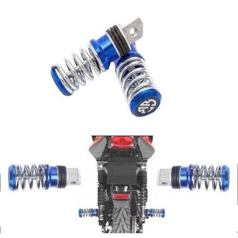 Love4ride 2 Pcs Spring Coil Foot Peg Set for All Bikes