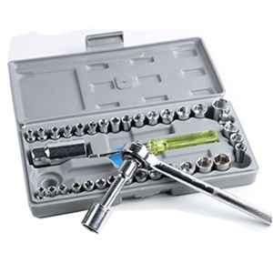 Aiwa 40 Pcs Combination Wrench Socket Tool Kit with Box