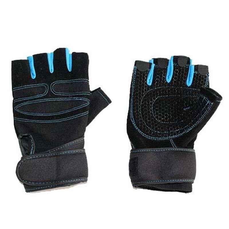AllExtreme EXHFG1B Large Shockproof Gel Pad Breathable Riding Half Finger Gloves