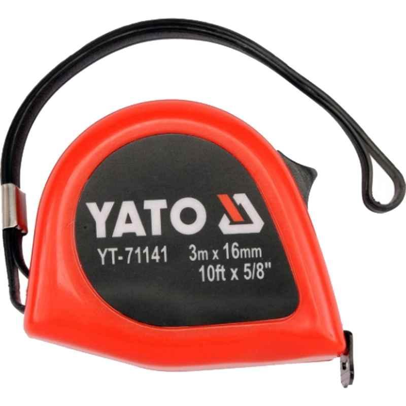 Yato 3m 16mm Steel Metric & inch Measuring Tape, YT-71141
