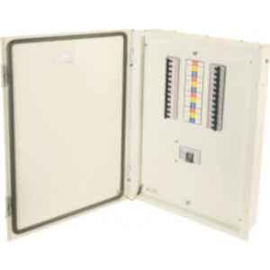 Indoasian Optipro 8+36 Module 12 Ways IP43 Phase Selector 40A Double Door Distribution Box, 811943