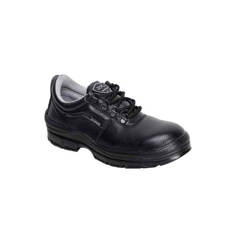 Liberty Gliders Roughter-S Synthetic Leather Steel Toe Black Safety Shoes, Size: 8