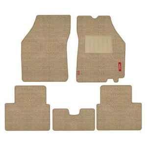 Elegant Popcorn 5 Pcs Polypropylene Beige 2D Car Floor Mat Set for Maruti Suzuki A-Star