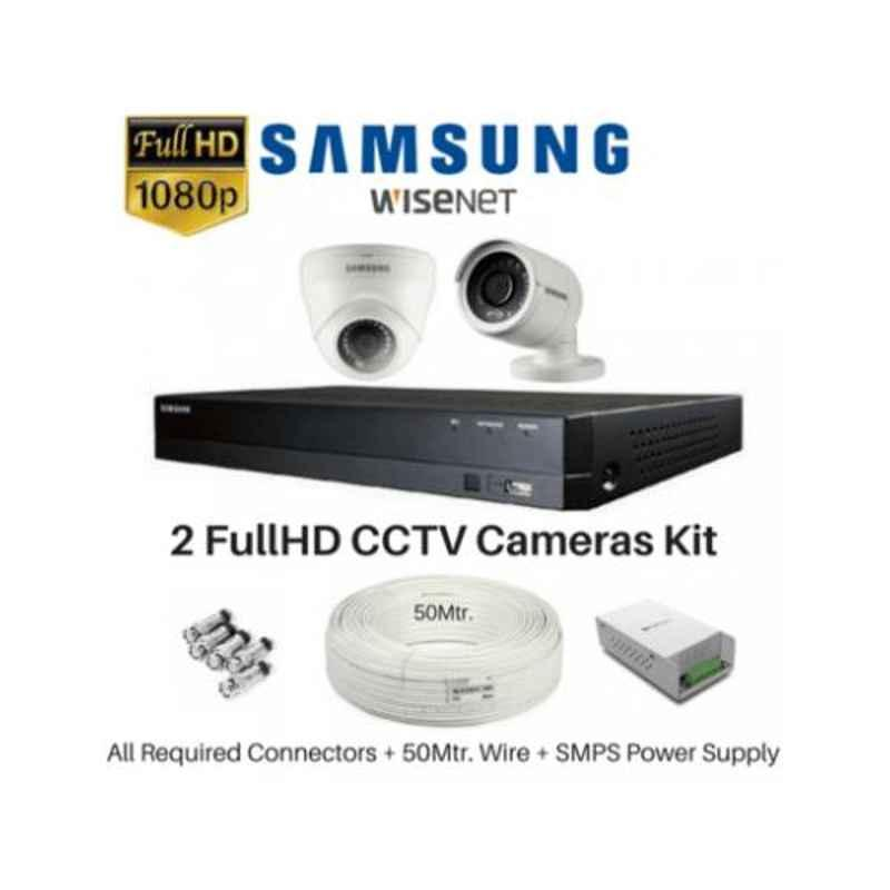 Samsung 2 Cameras 1080P with 4 Channel DVR Combo Kit