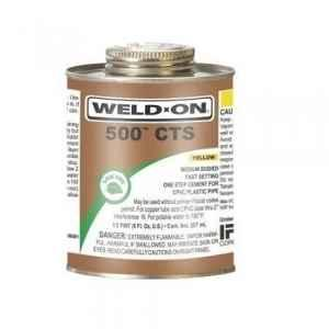 Astral CPVC Pro 237ml IPS Weld-On 500 CTS Yellow Adhesive Solution, CTS-500-237