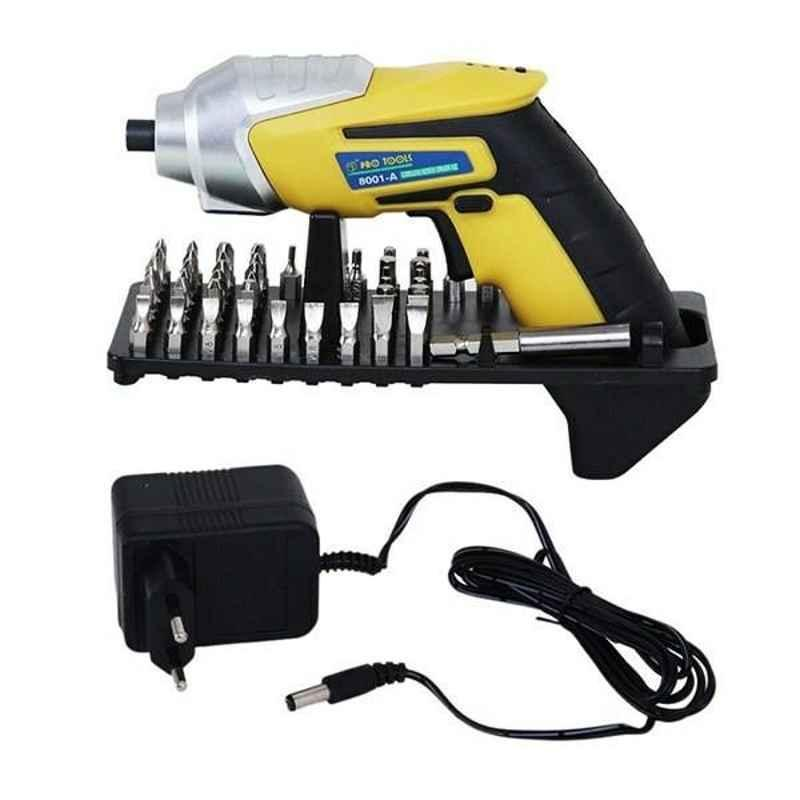 Pro Tools 6.5mm Modern Styling Cordless Screw Driver Kit, 8001 A