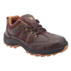 Hillson Swag 1904 Robust Synthetic Leather Steel Toe Brown Safety Shoes, Size: 9