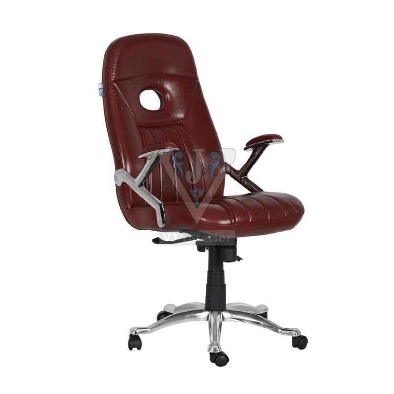 VJ Interior 19x20 inch Brown Leather Dark Senior Executive Chair, VJ-1510