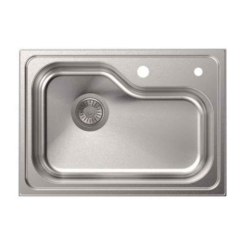 Carysil Avenger Series Stainless Steel Gloss Finish Kitchen Sink, Size: 24x17x8 inch