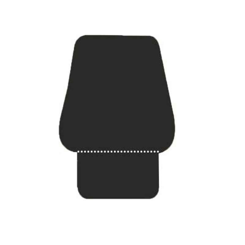 Xamax Pro V Black Backrest with Extra Seating Cushion, BTT300-BL