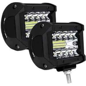 JBRIDERZ Car Cob Drl Fog Lamp 2 Pcs Set For Maruti Baleno 2Nd Gen 1.3L Alpha (Type 1)