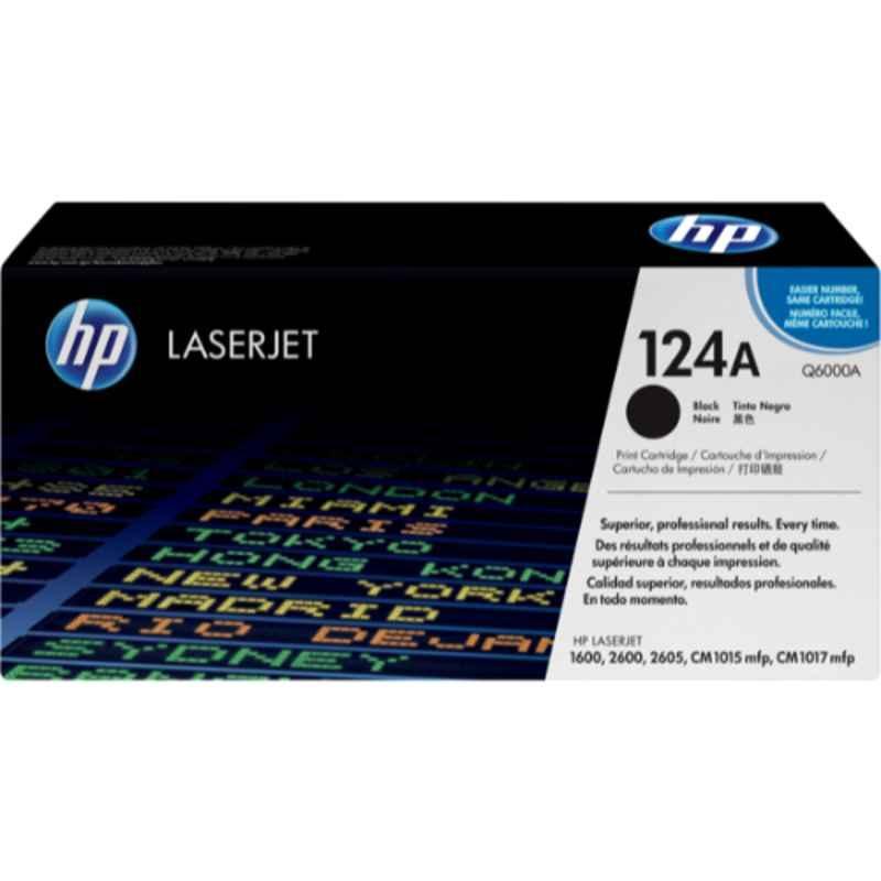 HP 124A Black Original Laserjet Toner Cartridge, Q6000A
