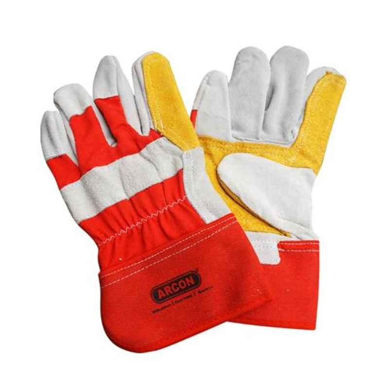 Arcon Leather Double Palm Hand Gloves