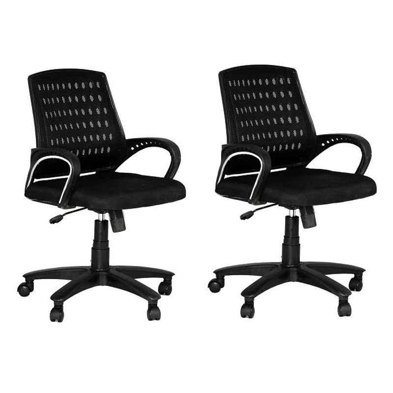 High Living Eezy Black Mesh Office Chair (Pack of 2)