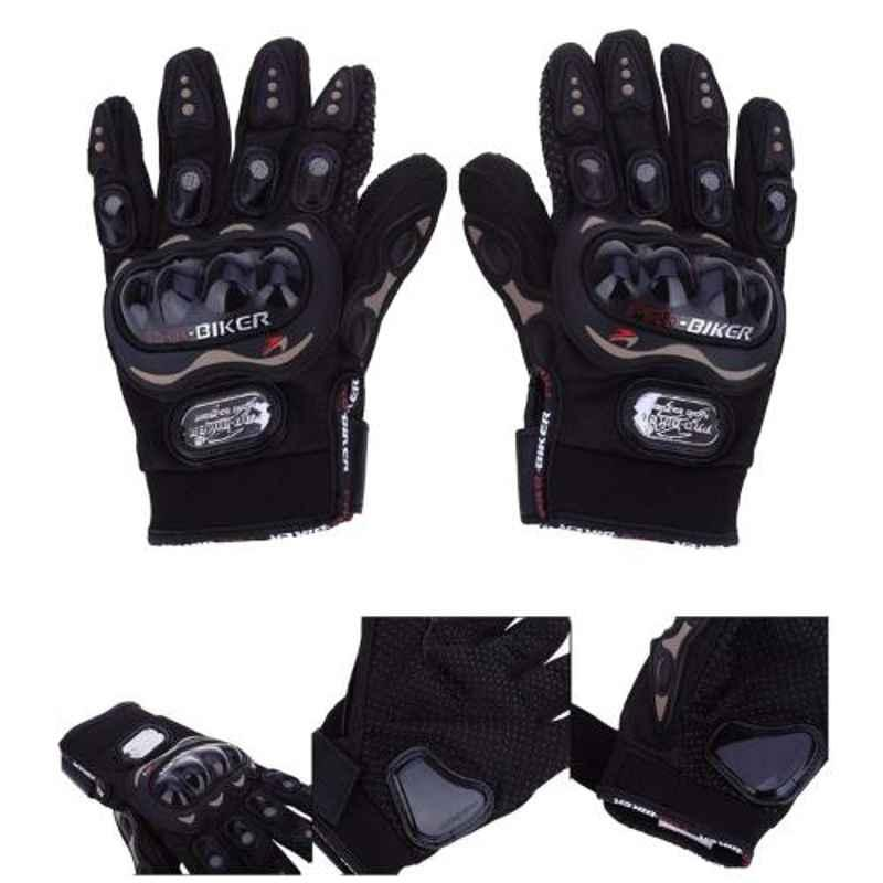 Love4ride Probiker Synthetic Leather Black Bike Gloves