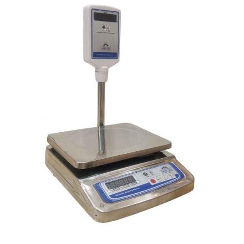 Shri Sai 30kg Stainless Steel Digital Table Top Weighing Scale, TT-SSP-30T