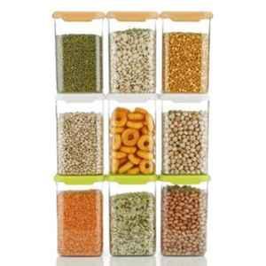 Generic 9 Pcs 1100ml Multicolour Plastic Grocery Container Set