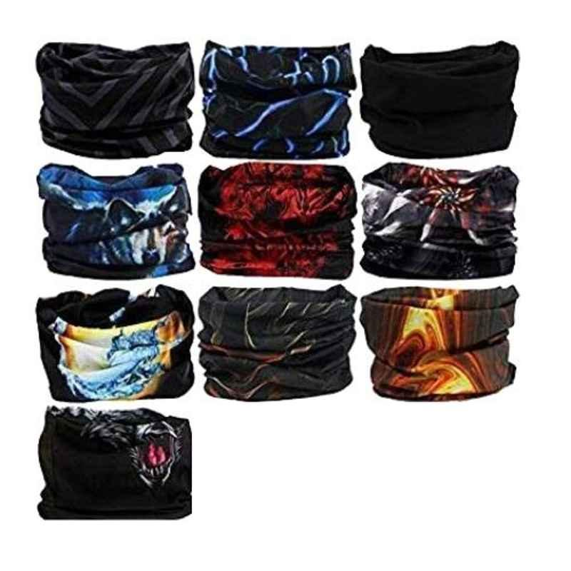 Love4ride Microfiber Polyester Unisex Headwear Headband Head Wrap Uv Resistance Sports Bandana Magic Scarf Face Mask (Pack of 10)