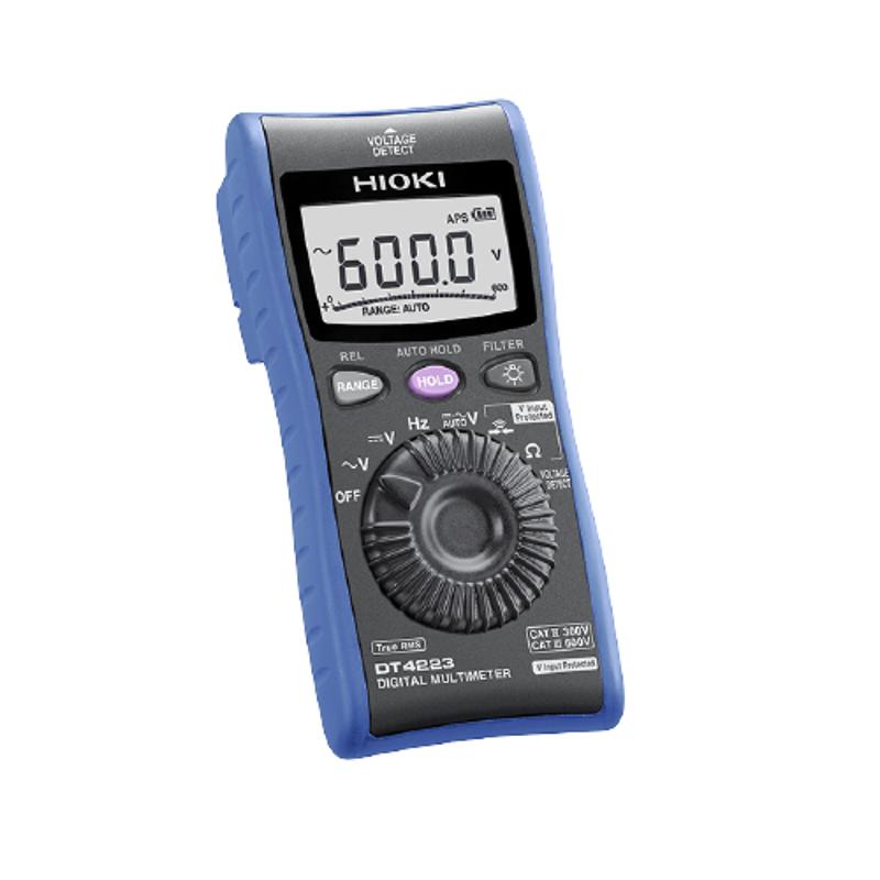 Hioki 6.000 to 600.0V Digital MultiMeter, DT4224