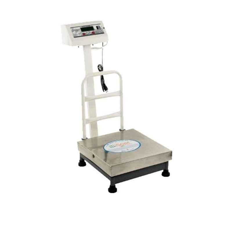 iScale 50kg and 10g Accuracy Stainless Steel Platform Weighing Machine with Front and Back Double Display