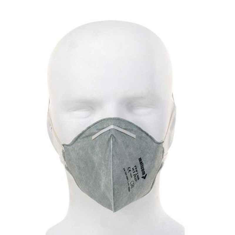 Mallcom M 2102P Protective Gear White Face Mask (Pack of 50)