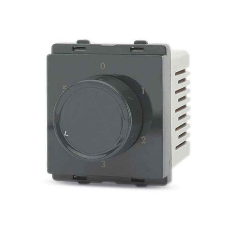 Schneider Livia 2 Module Pebble Grey Step Type Fan Regulator, P3200_DG (Pack of 10)