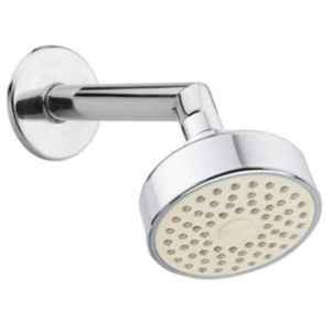 Drizzle Aqua 4 inch Plastic Chrome Finish Silver Overhead Shower with 9 inch Long Arm, A4JAQUARBS