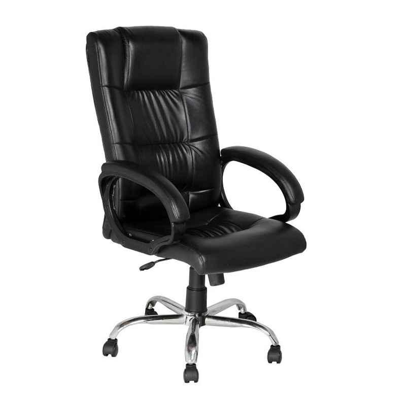 High Living Poseidon Leatherette High Back Black Office Chair